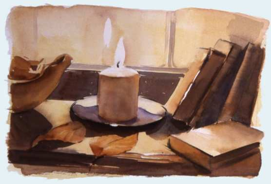 Windowsill November by Christine Berrington