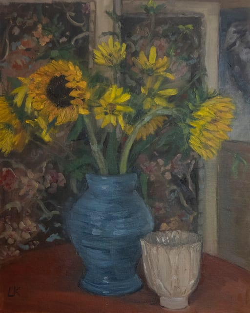 Still Life with Sunflowers by Louise Kaye