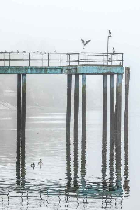 Strand on the Green Pier in the early morning mist