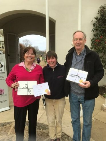 Jonathan Green and Marion Morris with the Estate Gardens Manager Geraldine King