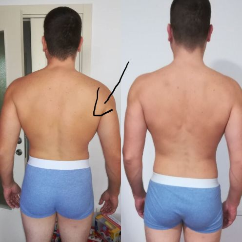 personal trainer Aleksandar Dzeletovic before and after
