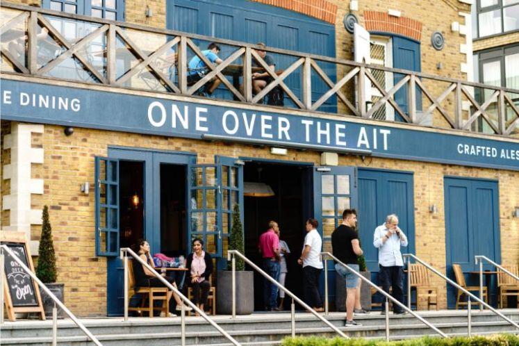 over the ait front entrance pub