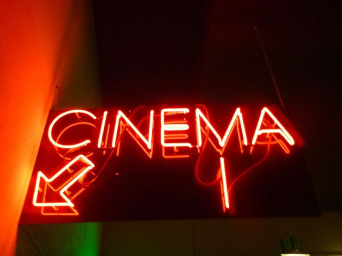cinema sign in the chiswick watermans art centre and theatre