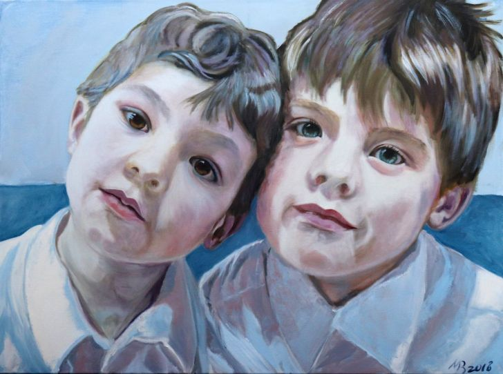 Brothers Print by Marina Bowater