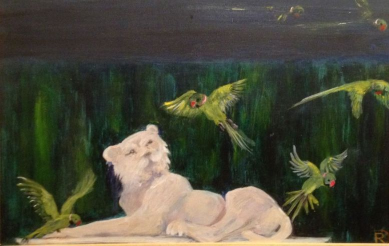 Romaine-Dennistoun-parakeets