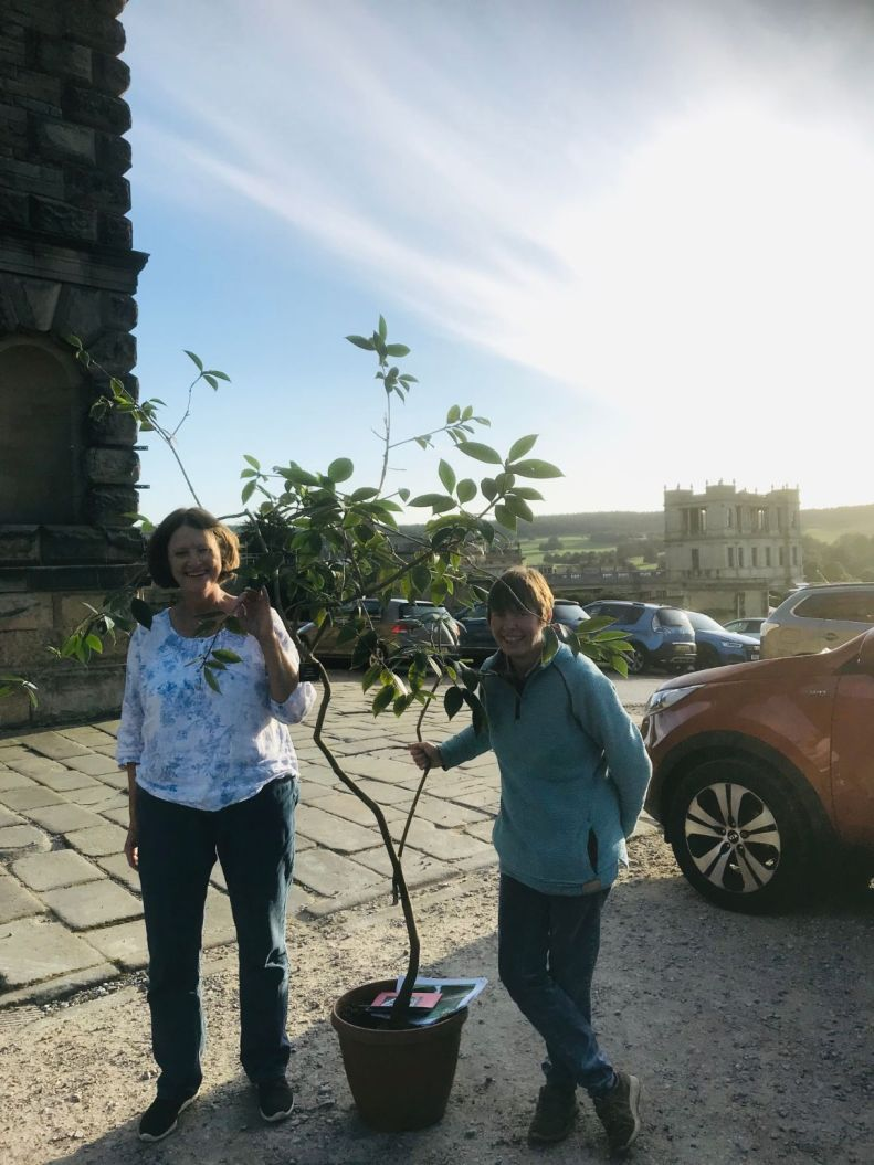 Picking up a plant - Captain Rawes at Chatsworth