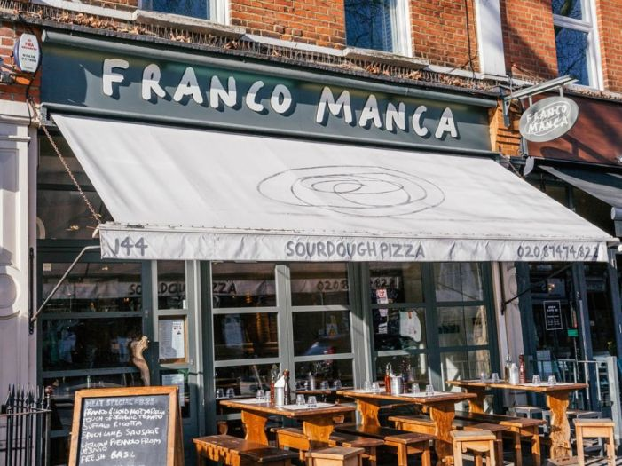 Outside Franco Manca