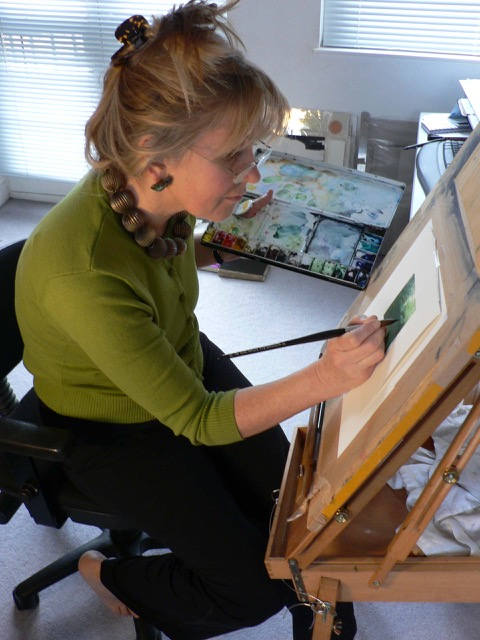 Liz Working in studio jpg