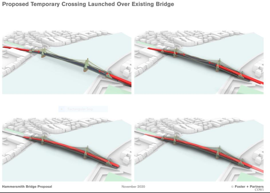 Temporary Crossing plan - Foster & Partners 3