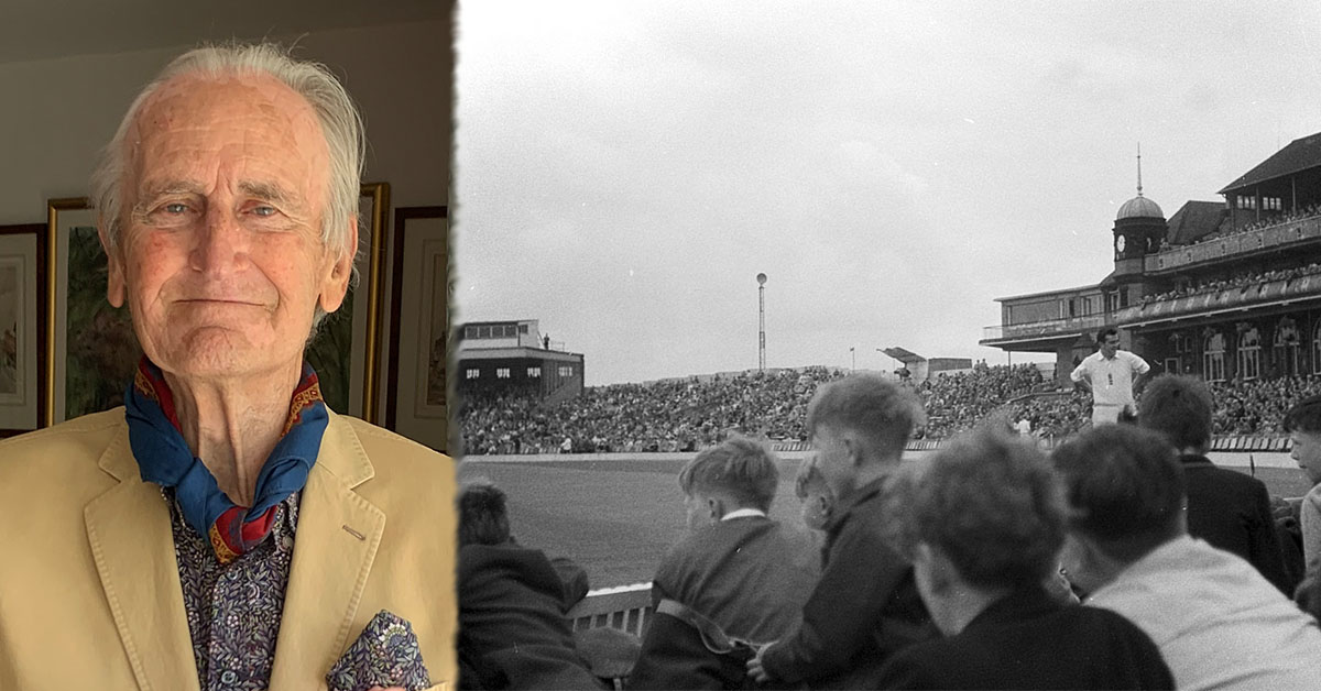 Ted Dexter (Left) and Fourth Test, England v Australia, Old Trafford, 1961 (Right) credit Alan Murray-Rust