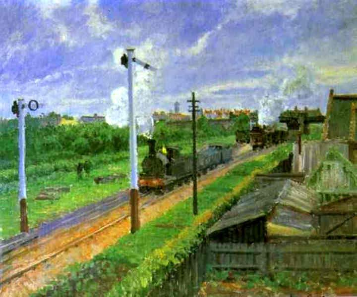 Camille Pissarro The Train, Bedford Park