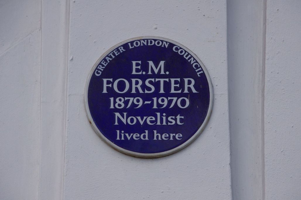 EM Forster blue plaque - Alanna McCrum