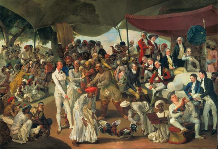 Johann Zoffany - Colonel Mordaunt's Cock Match, c. 1784-88.