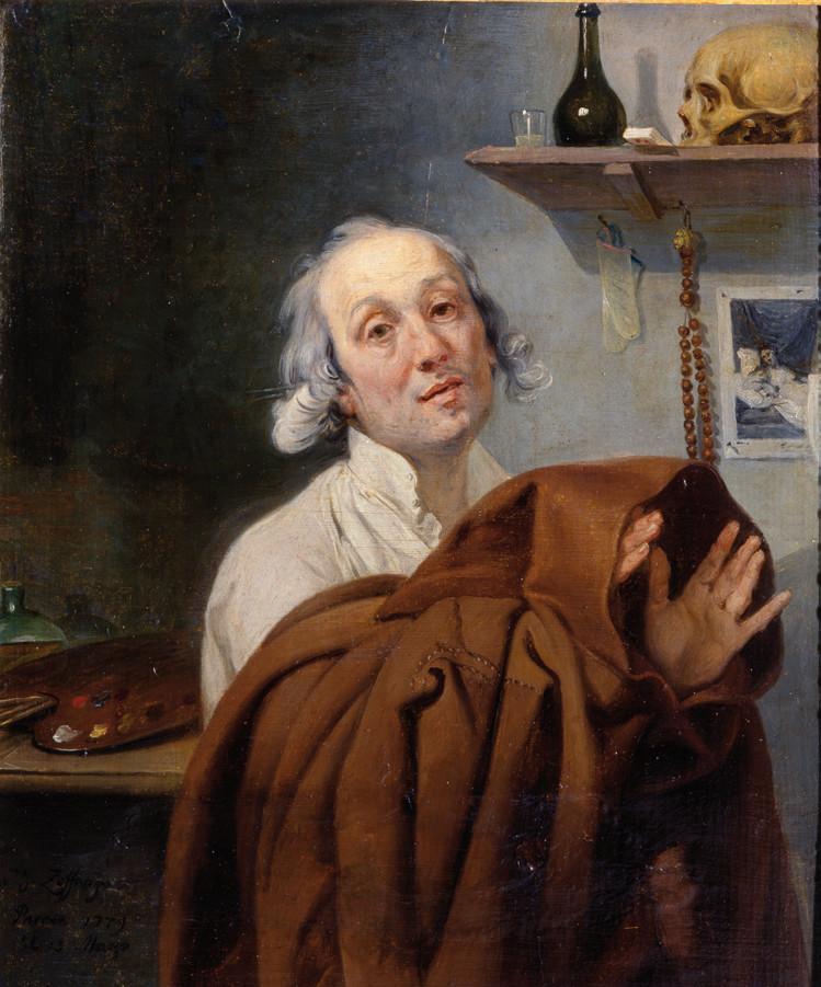 Johann Zoffany - Self-Portrait with a Friar's Habit, 1779