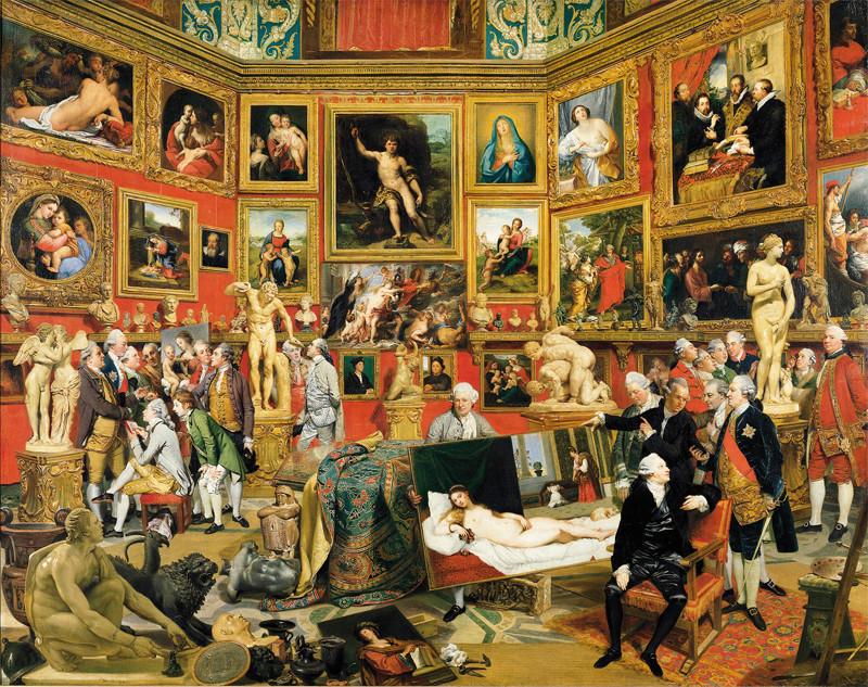Johann Zoffany - The Tribuna of the Uffizi, 1772-77