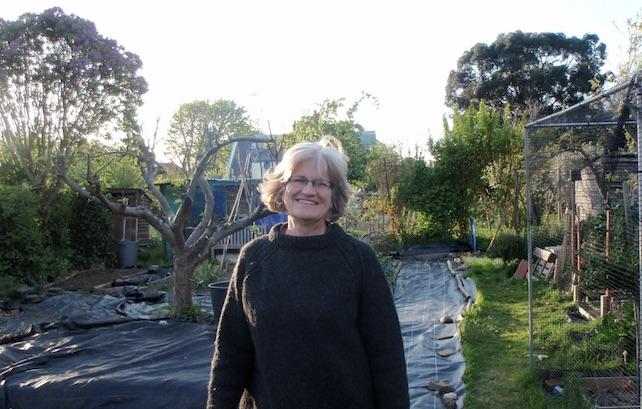Susan at allotment 2