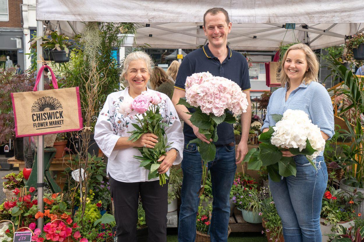 Chiswick Flower Market portrait photo