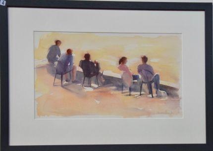 Christine Berrington, Sitting in the sun Riverside Richmond - UID4