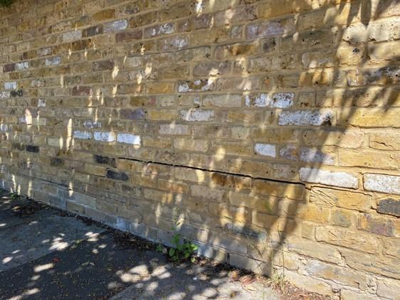 Graham Rd garden wall 1