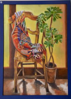 Marcia Hurst, Chair with scarf and plant - UID40