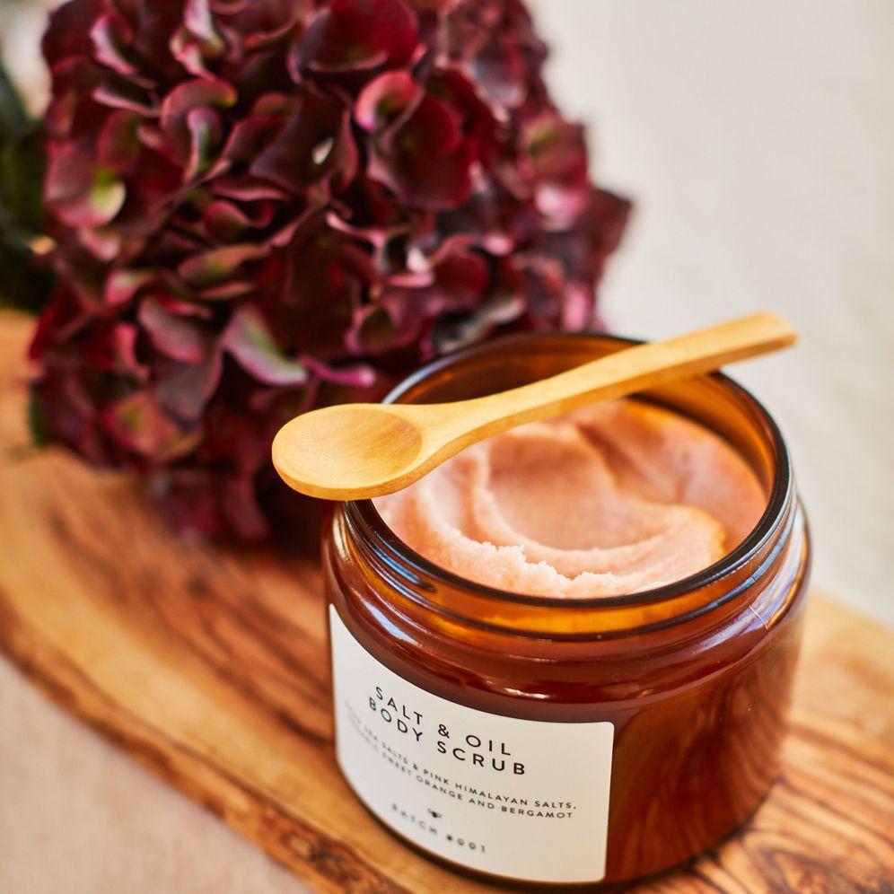 Batch #001 Salt & Oil Body Scrub ORganic Sweet Orange and Bergamot Batch_web