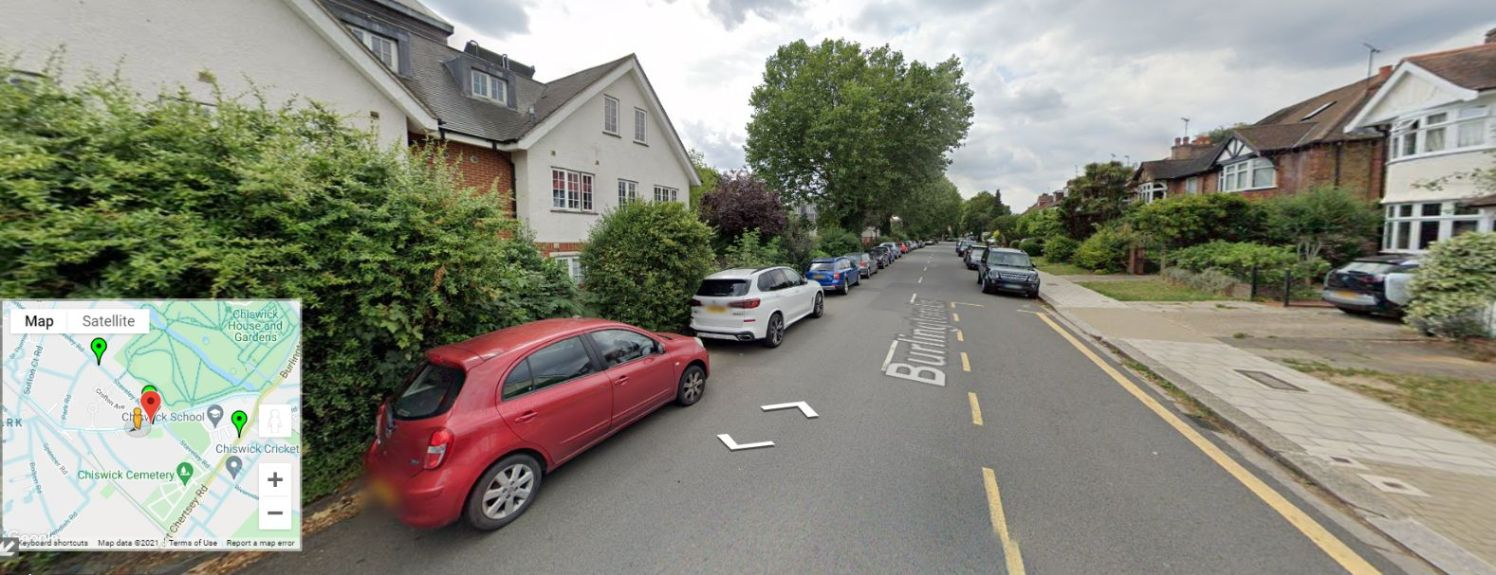 Google Street View Burlington Lane_web