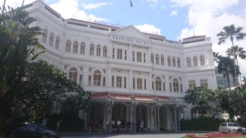 Singapore - Raffles Hotel famous frontage