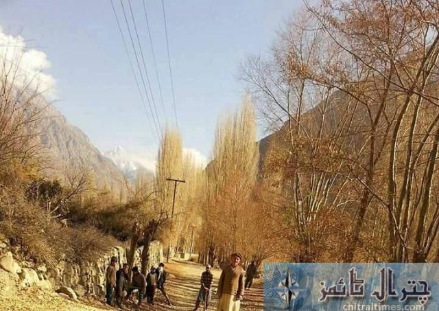 ismaili volunteers on repairing road