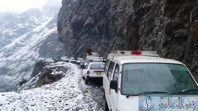 chitral Chitral Mastuj road closed due to snowfall and landsliding latter on road re opend for trafic pic by Saif ur Rehman Aziz 2