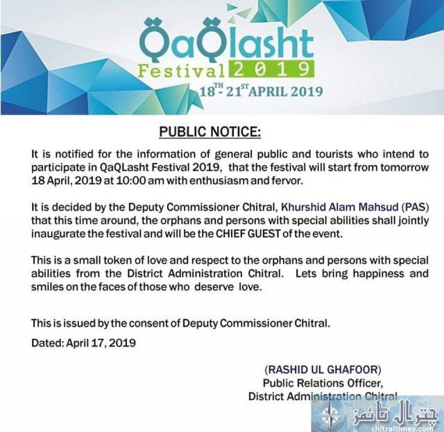 Kaqghlasht festival 2019