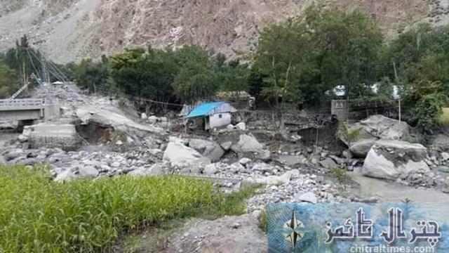 Golan flood distryoed bridges and road 6