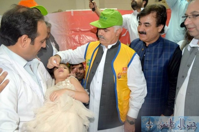 cm kp mehmood kicked off polio campaign2