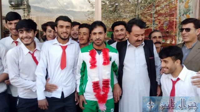 international athaletes m siar baig warm welcome by loacals 1