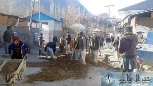 ismaili volunteers upper Chitral road repaired8
