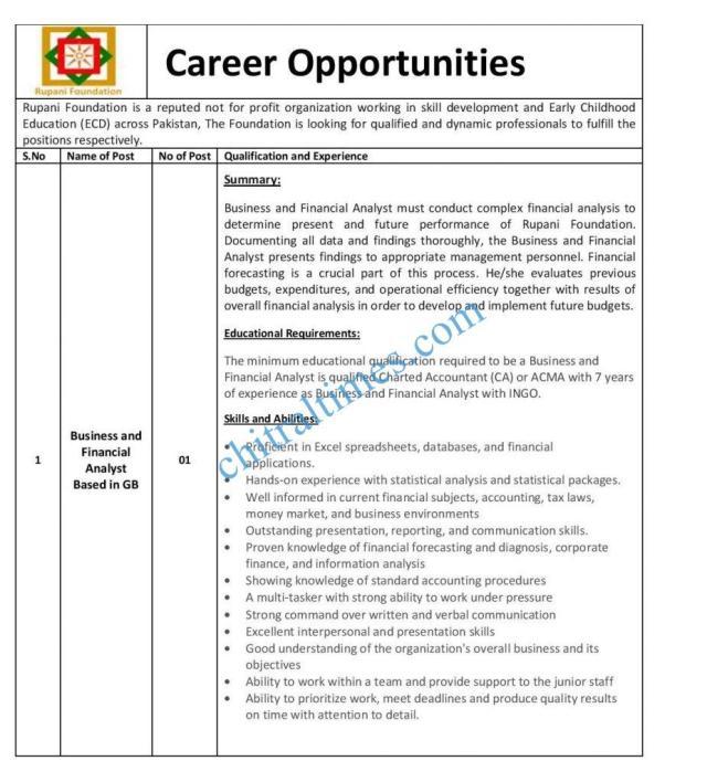 job opportunites rupani foundation gb 1 1