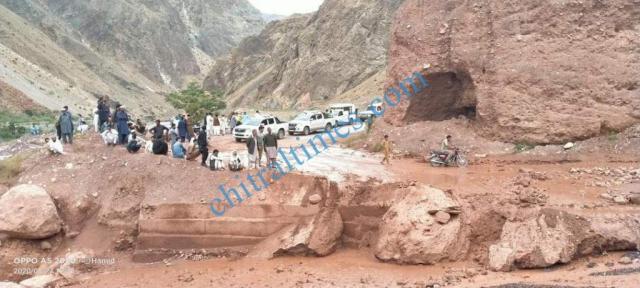Zait chitral flood damages 4