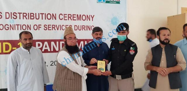 mna chitrali distributes awards among covid19 front line persons40