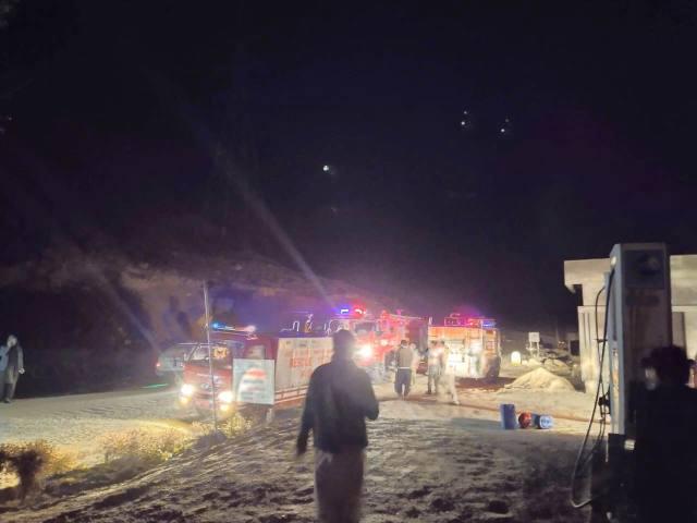 Rescue 1122 team save Petrol pump chitral1