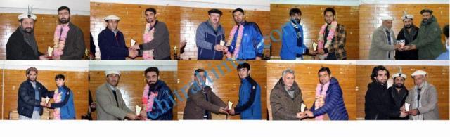 football player chitral received beta award