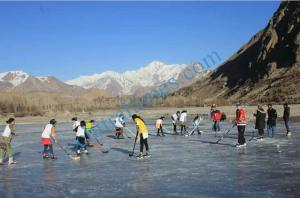 ice hockey match booni upper chitral