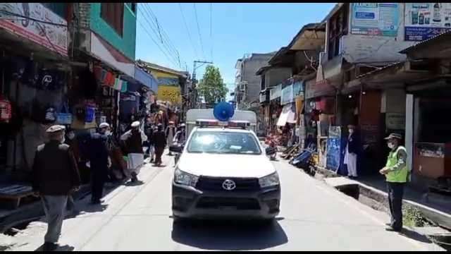 chitral police corona sops campaign