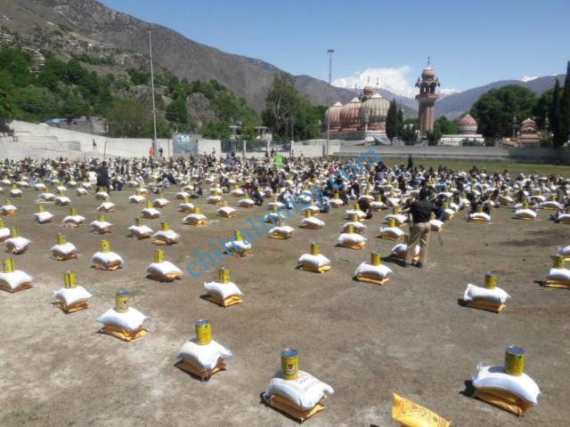 senator talha mehmood relief distributed in chitral town