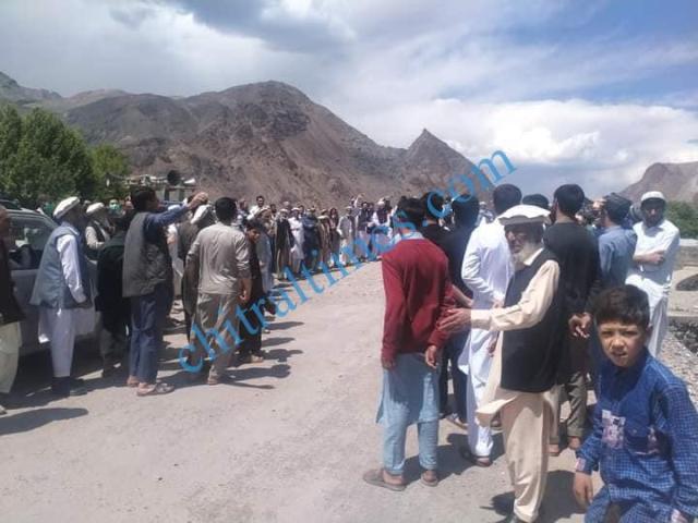 Chitral protest against israili agression reshun