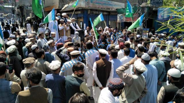 Chitral protest against israili agression1