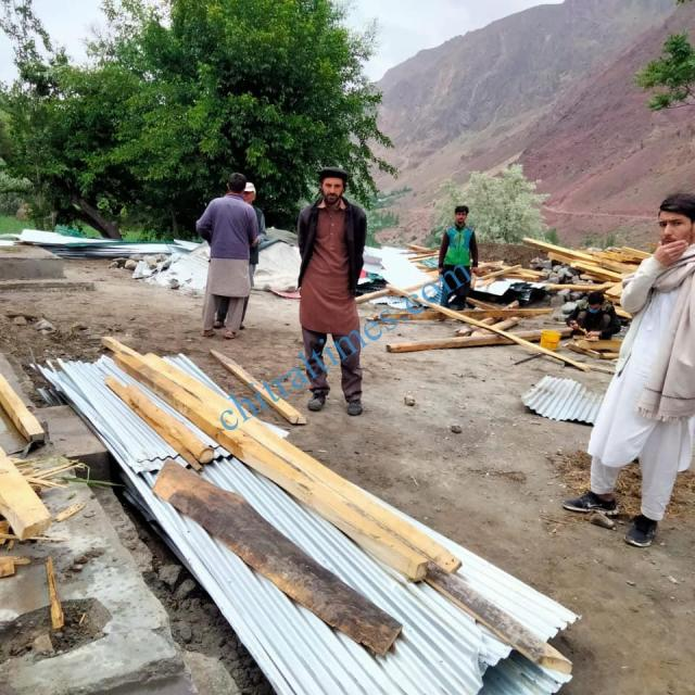ac mastuj upper chitral visit awi distroyed house1
