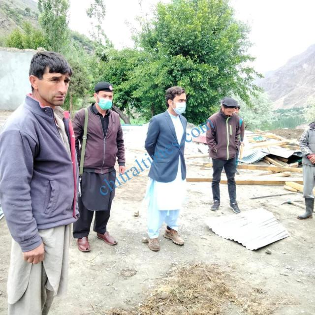 ac mastuj upper chitral visit awi distroyed house2