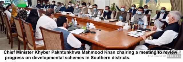chitraltimes cm kpk chaired southern district development meeting