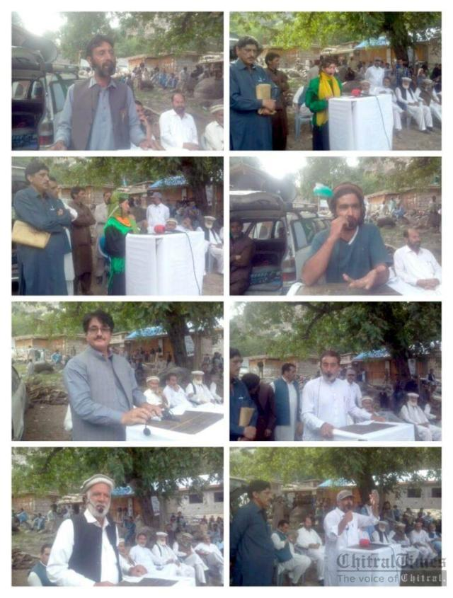 chitraltimes kalash valley protest against delay road construction