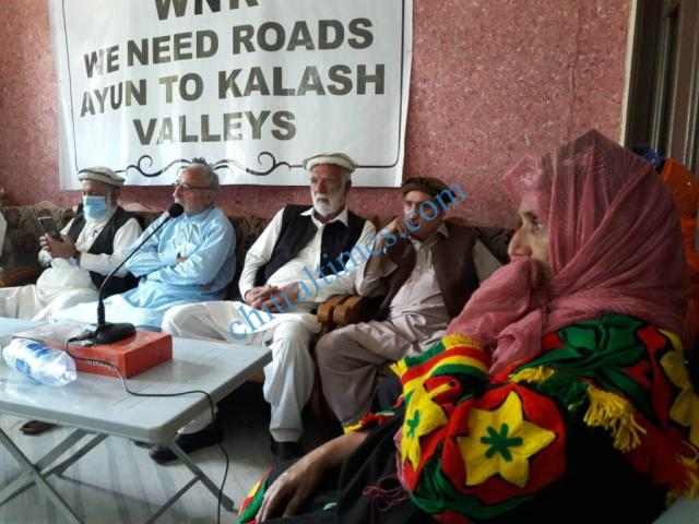 chitraltimes kalash valley road protest rally4