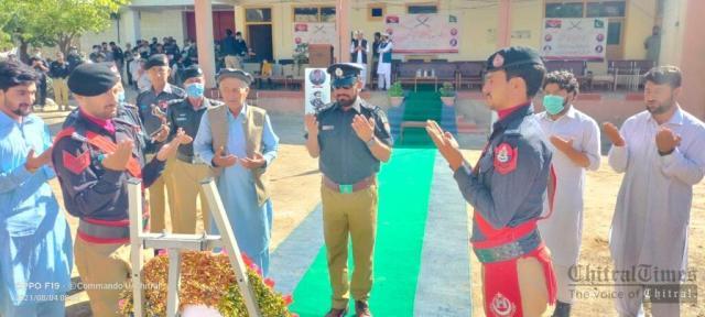 chitraltimes upper chitral police shuhada taqreeb1